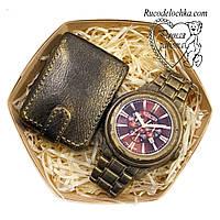 Мыло для мужчины в подарок набор кошелек, часы