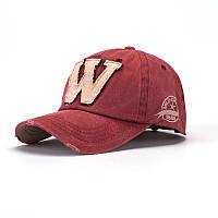 Кепка бейсболка W Красная 2, Унисекс, фото 1