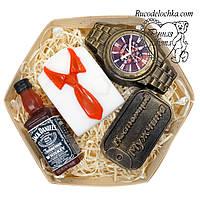 Мыло для мужчины в подарок набор виски, рубашка, часы, жетон