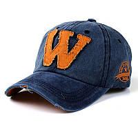 Кепка бейсболка W Синяя 2, Унисекс, фото 1