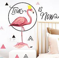 """Интерьерная наклейка на стену """" Фламинго """""""
