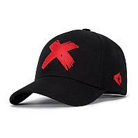 Кепка бейсболка Крестик 2, Красная Унисекс, фото 1