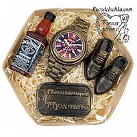 Мыло для мужчины в подарок набор виски, часы, жетон, туфли