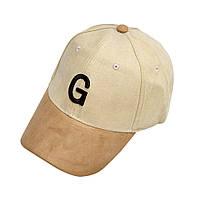 Кепка бейсболка G искусственная замша 2, Унисекс, фото 1
