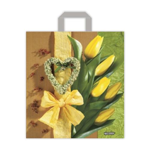 """Пакет-петля """"Желтые тюльпаны"""" - 40х45, 25шт."""
