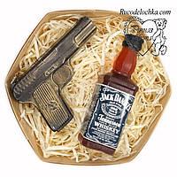 Мыло для мужчины в подарок набор виски, пистолет