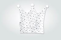Подушка для новорожденного детская Корона 32х32 см