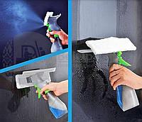 Щітка для миття вікон з розпилювачем Easy Glass 3 in 1 Spray Window Cleaner, фото 1