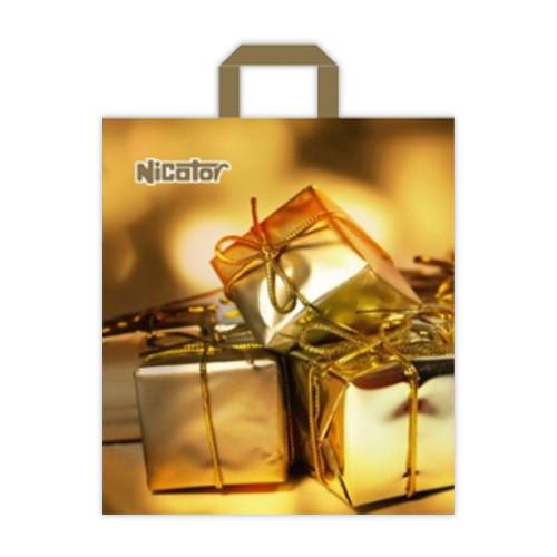 "Пакет-петля ""Подарок золото"", 40х45, 25шт."