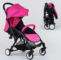 Коляска прогулочная детская JOY футкавер, съемный бампер W 8095 розовый