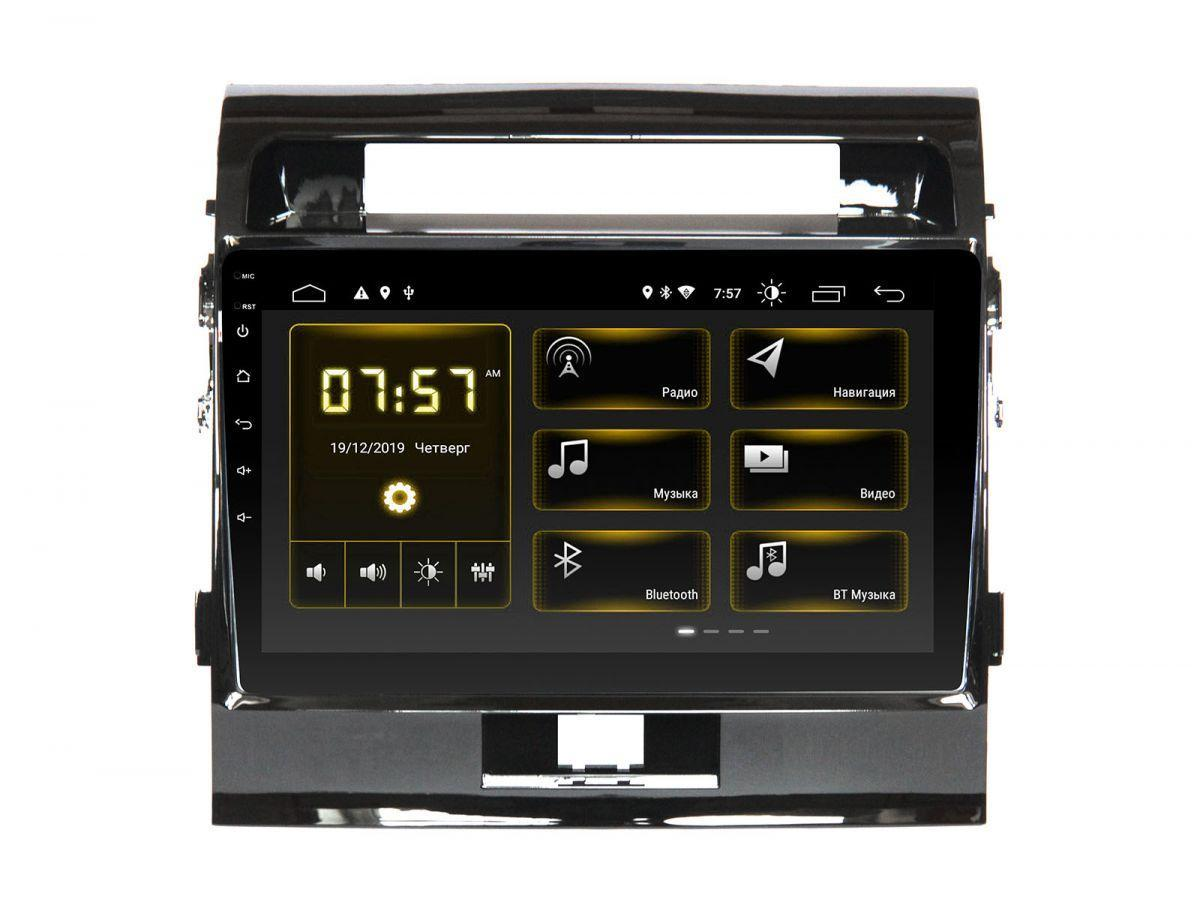 Штатная автомагнитола Incar DTA-0303E для Toyota LC 200 2012+ Europa. Матовая рамка, для машин c усилителем