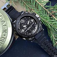 Наручные часы с пластиковым корпусом Casio Shock GLG-1000 All Black