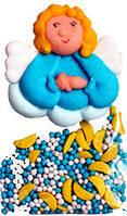 """Кондитерский декор украшение для Пасхального кулича """"Ангел с посыпкой"""""""