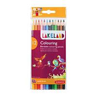 Набор цветных карандашей Lakeland Colouring Wallet в блист. 12цв, Derwent
