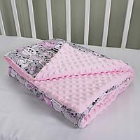Одеяло детское из плюша Minky в ассортименте