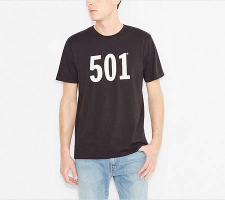 Мужские футболки Levis 501 Tee - Black
