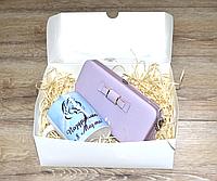 Набор подарочный для женщин 2в1 . Кошелёк и чашка в подарочной упаковке.