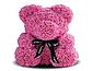 Мишка из искусственных роз 25 см (6 цветов), фото 6