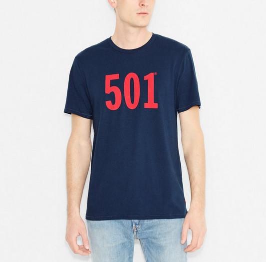 Мужская футболка Levis 501 Tee - Dress Blues