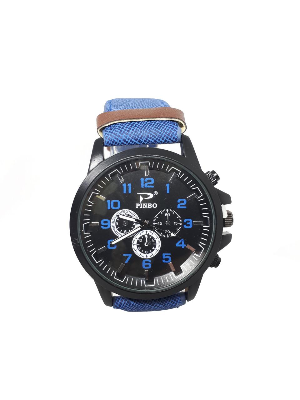 Часы мужские Pinbo Sport на  ремешке опт. Синий