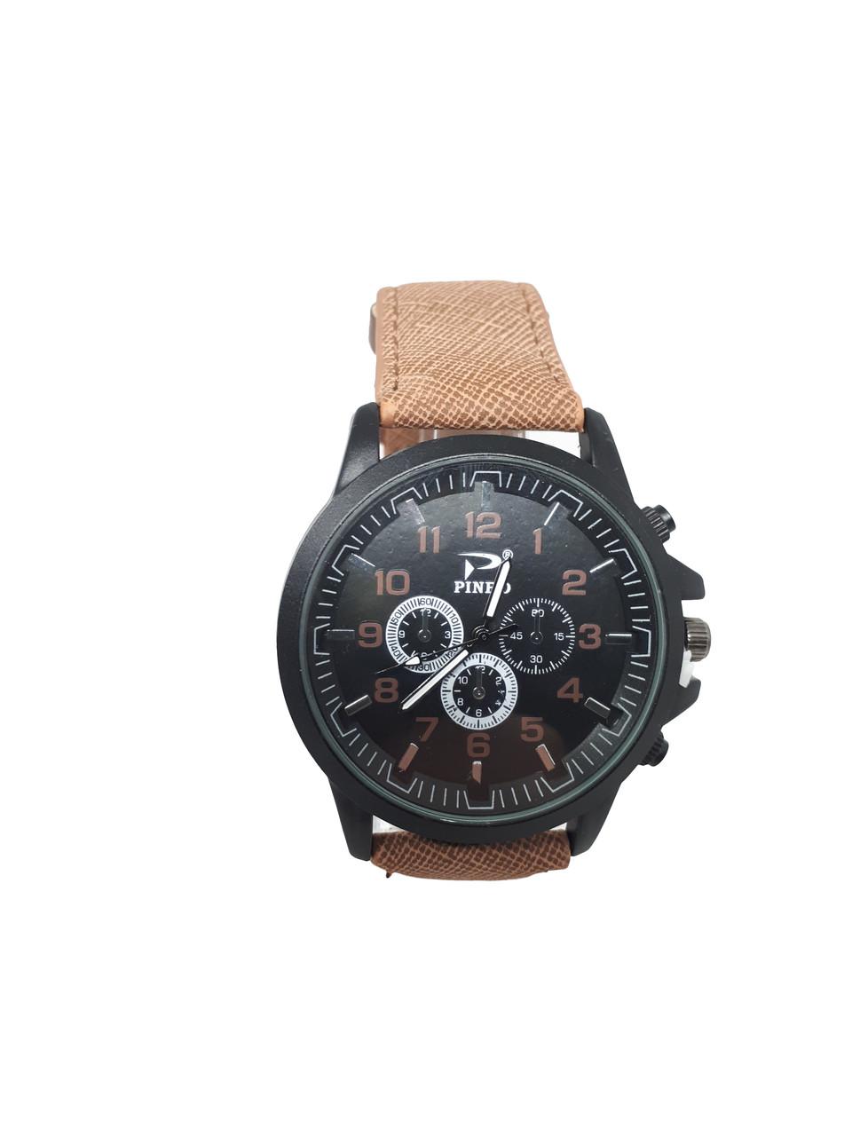 Часы мужские Pinbo Sport на  ремешке. Коричневый