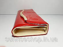 Клатч лаковий колір малиновий, фото 2