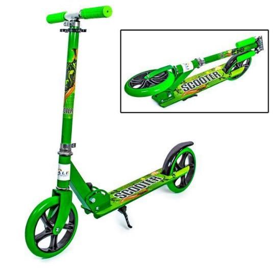 Самокат детский двухколесный для мальчика девочки 5 6 7 лет Scale Sports 460 зеленый