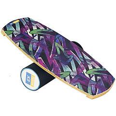 Балансборд Ex-board Градиент черный валик 13 см в резине (ex010-2), баланс борд, BALANCE BOARD, балансировочная доска, баланс тренажер, indo board,