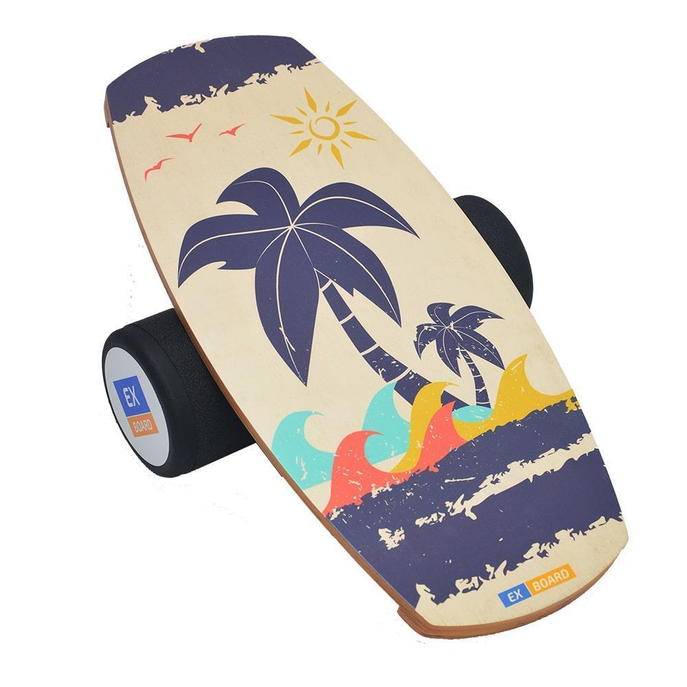 Балансборд Ex-board Лето черный валик 16 см литой (ex005), баланс борд, BALANCE BOARD, балансировочная доска, баланс тренажер, indo board, баланс