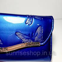 Клатч лаковый цвет синий, фото 3