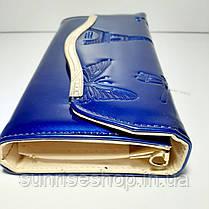 Клатч лаковый цвет синий, фото 2