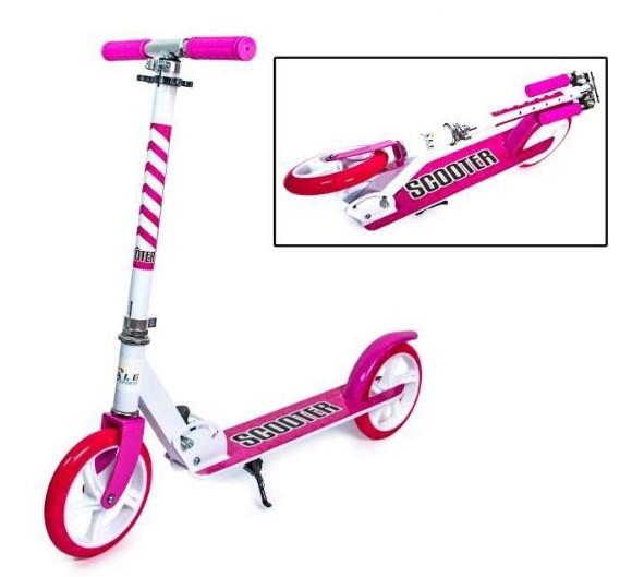 Самокат детский двухколесный для девочки 5 6 7 лет Scale Sports 460 розовый