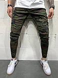 😝 Джинсы - Камуфляжные мужские джинсы с вставками белыми по бокам, фото 3