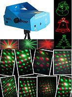 Лазерный мини-проектор цветной фигурный для праздников Laser Lighting XX-621