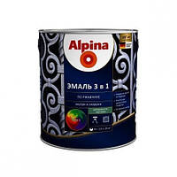 Эмаль антикоррозионная 3 в 1 Alpina Stop-Rost RAL 8017 (тёмно-коричневый) 0,75 л, фото 1
