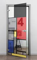 """Двери с фотопечатью """"Цветные квадраты"""""""