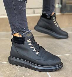 😜Кросівки - Чоловічі кросівки чорні стильні