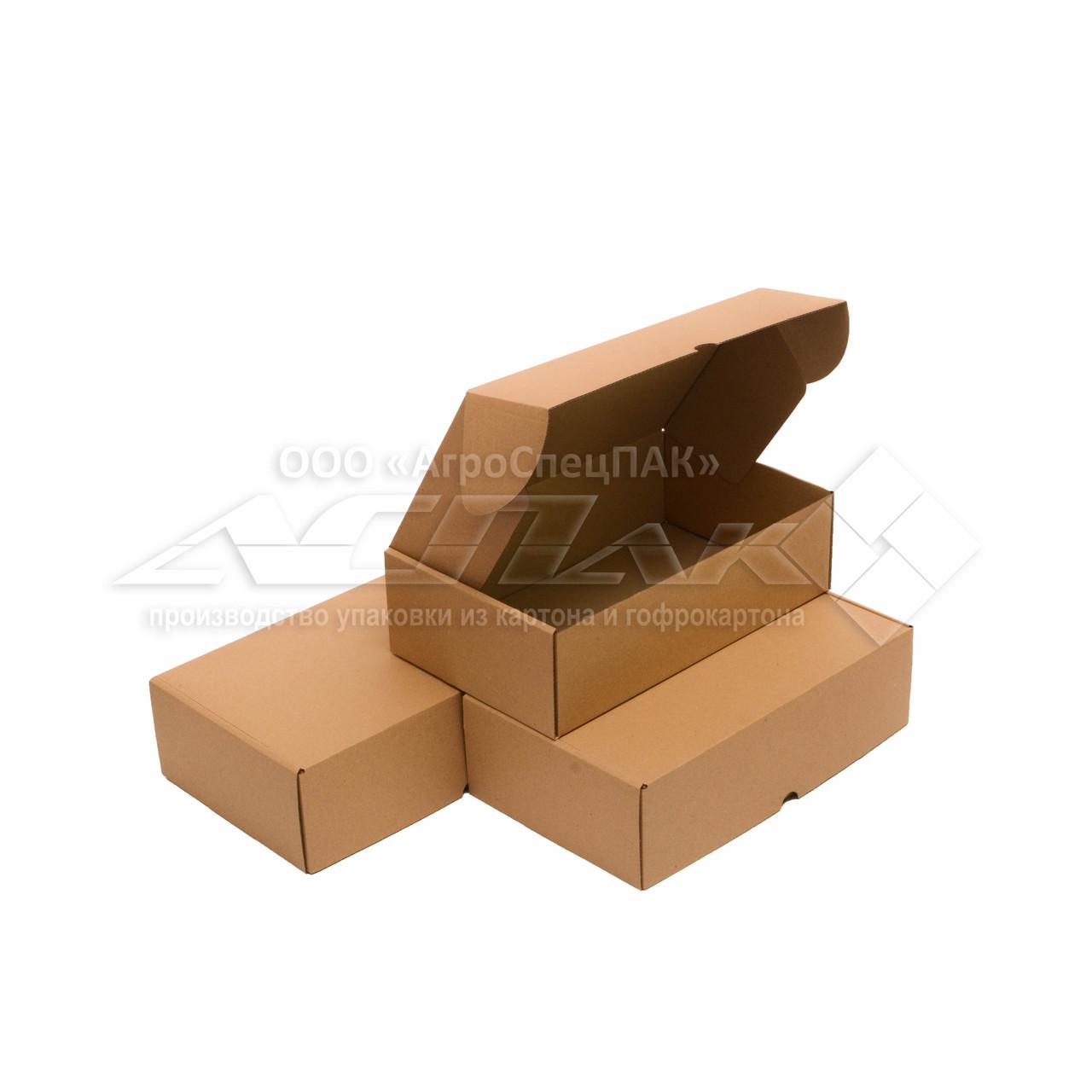Самосборные коробки 300*180*86 бурые