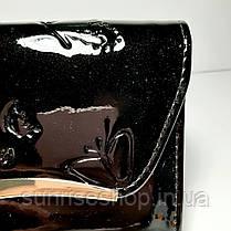 Клатч лаковий колір чорний, фото 2