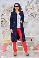 Костюм  женский с брюками  3-ка батал   Анфиса, фото 1