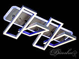 Прямокутна сучасна стельова люстра 11019/4GR LED 3color dimmer, фото 3