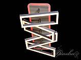 Прямокутна сучасна стельова люстра 11019/4GR LED 3color dimmer, фото 4