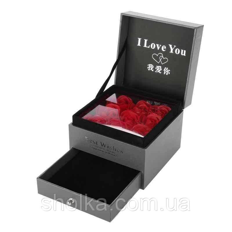 Подарочный набор мыла из роз I Love You XY19-49