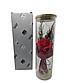Вечная роза. Роза в колбе с LED подсветкой, ночник БОЛЬШАЯ КРАСНАЯ №A52, фото 2