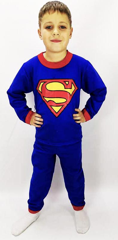 Пижама супермена синего цвета для мальчика 92-140 р