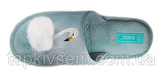 Женские комнатные тапочки Фламинго с открытым носком(олива)