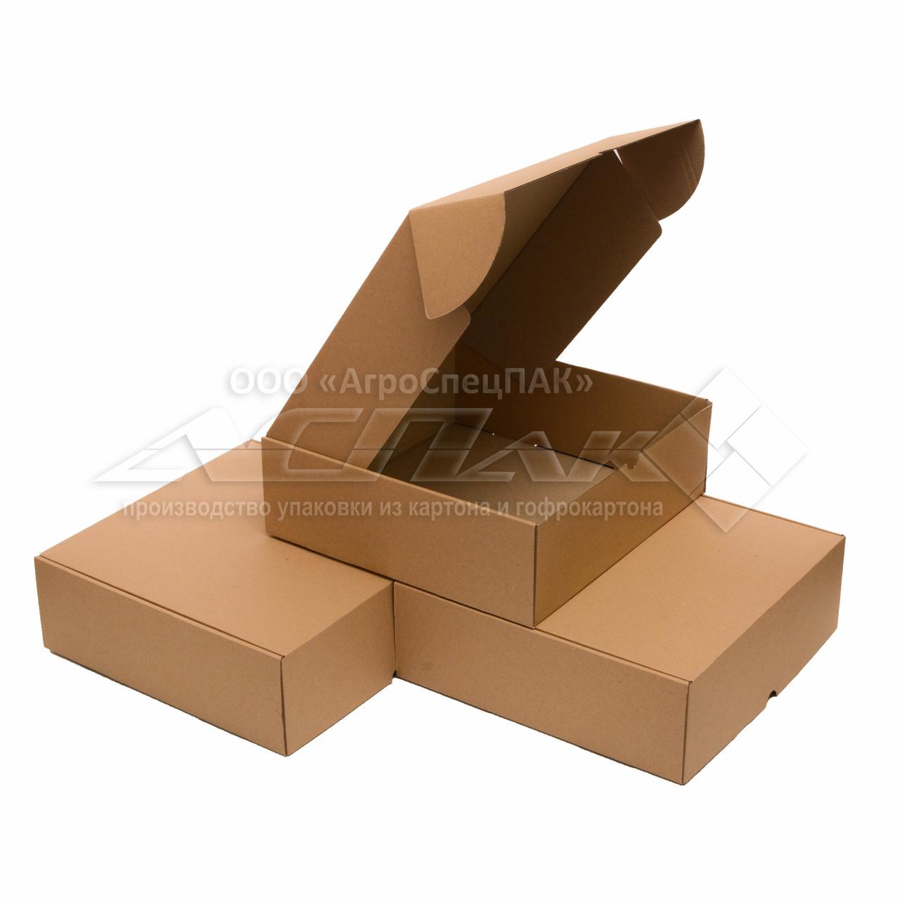 Картонные коробки 300*300*100 бурые - фото 1