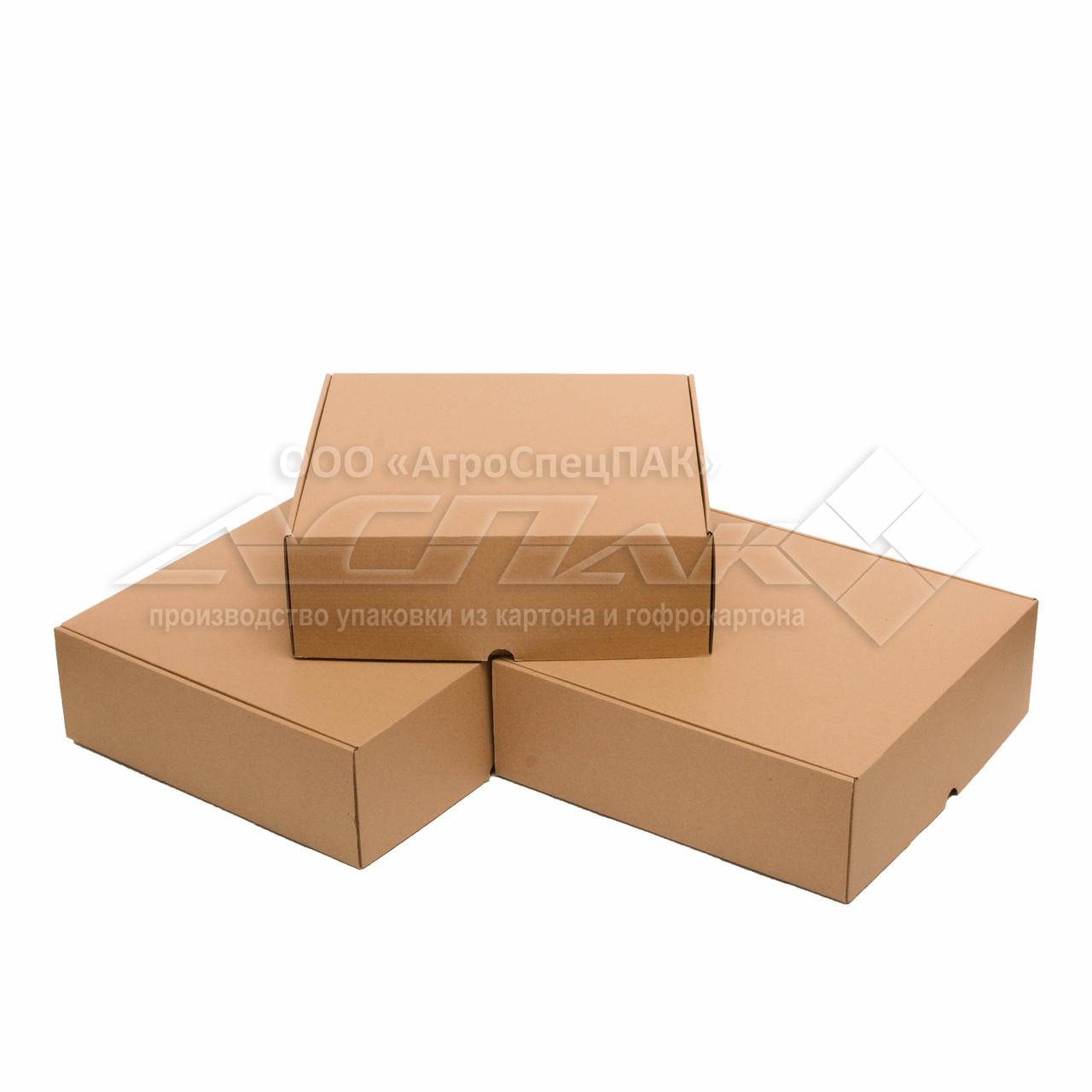 Картонные коробки 300*300*100 бурые - фото 2
