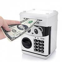 Музыкальная копилка сейф Панда Кунг Фу с кодовым замком принимает бумажные деньги и монеты, фото 1