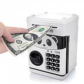 Музыкальная копилка сейф Панда Кунг Фу с кодовым замком принимает бумажные деньги и монеты